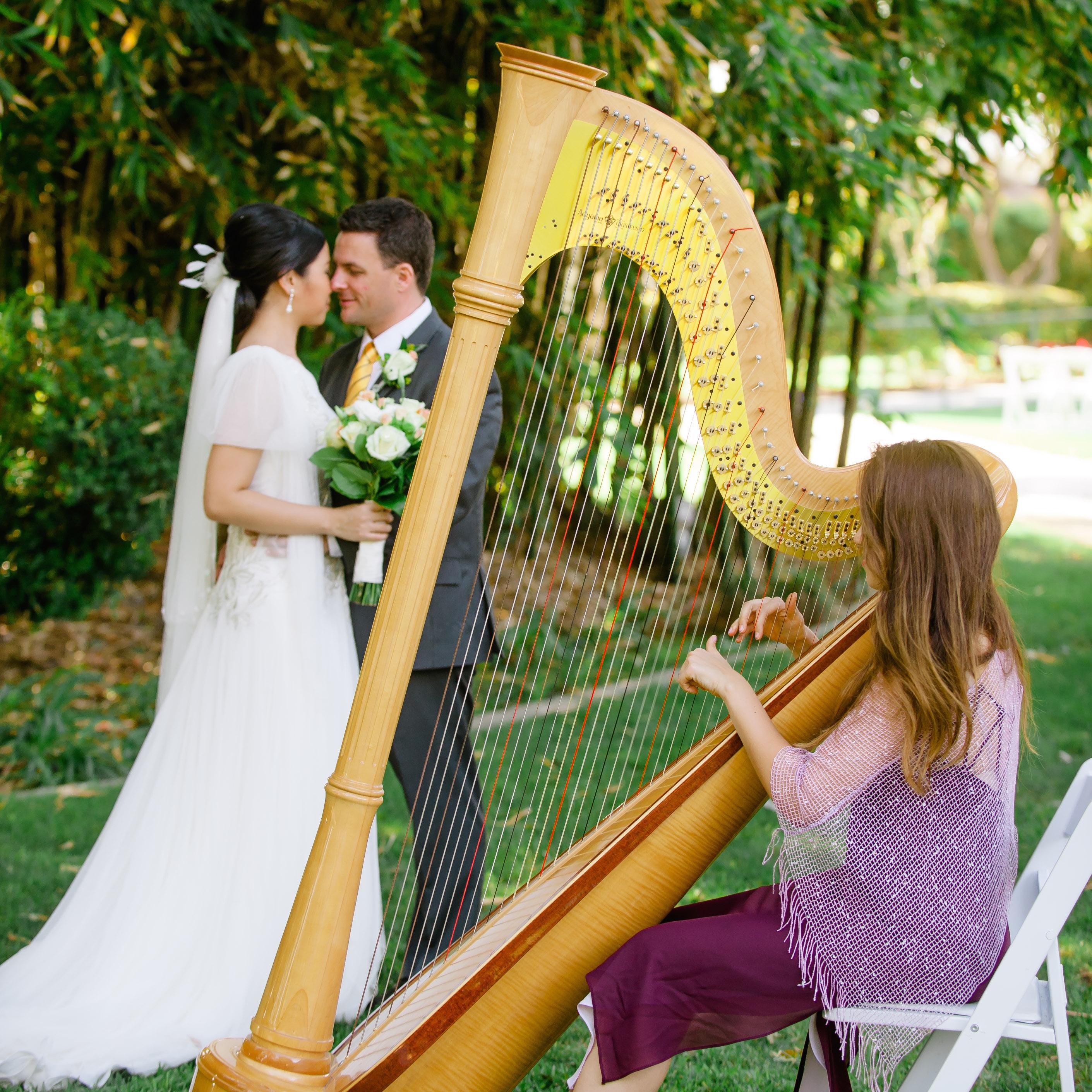 LA Harp Irene Wedding 2 Square