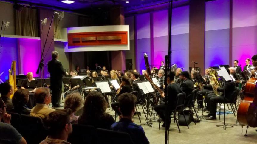 Wind Ensemble Concert Master's University 2017 2 LA Harp